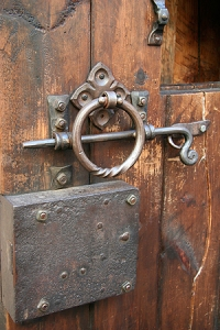 Rustikt lås