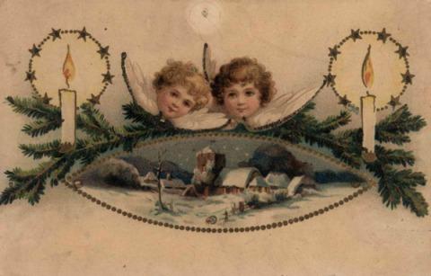 Julkort gammalt motiv