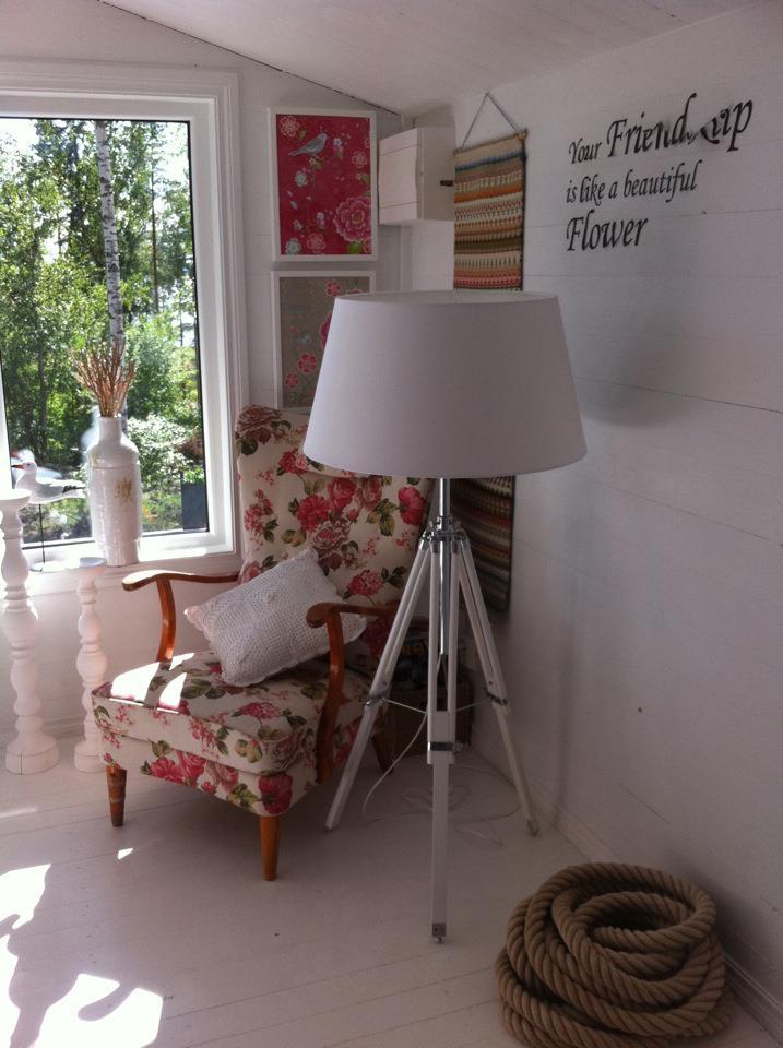 Gäststuga tripod-lampa