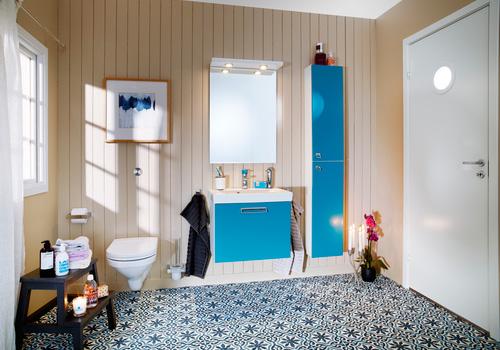 Litet kompakt badrum