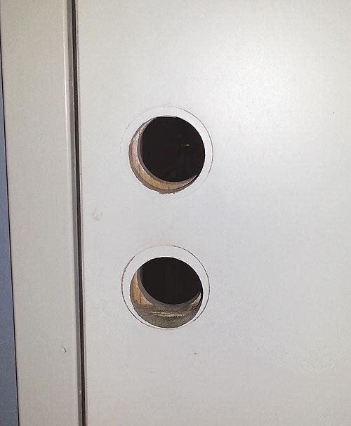 Dörr utan handtag